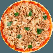 Especiais: Atum - Pizza Média (Ingredientes: Massa tradicional crocante, Molho Pomodori de tomate Pellati, Queijo Mussarela, Atum, Cebola Fatiada, Azeitona, E Orégano)