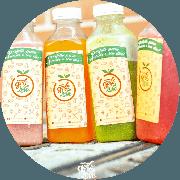 Vitaminas: Detox - 300ml - Abacaxi, hortelã, couve, limão e gengibre. 300ml