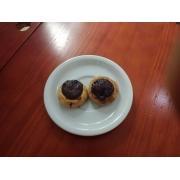 Coffee Break: Mini esfiha de chocolate preto - Mini esfiha