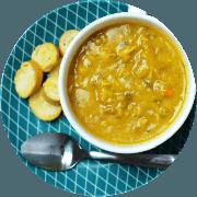 Sopa: (NOVA) Sopa de carne com legumes. 500ml - Sopa (Ingredientes: Sopa feita com carne de patinho moído, cenoura, batata inglesa e temperos.)