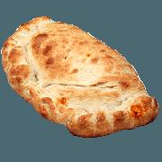 Calzone: Veneza - Calzone Médio (Ingredientes: Bacon, Catupiry, Cebola, Champignon, Presunto)