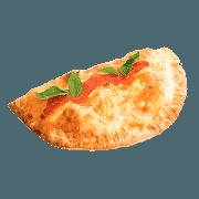 Calzone: Al Capone - Calzone (Ingredientes: Alho Refogado, Azeitona Preta, Champignon, Molho Especial de Tomate, Mussarela, Orégano, Palmito, Presunto)