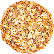 CLÁSSICAS DA CHEF´S: Canadense - Pizza Grande (Ingredientes: Champignon, Molho, Muçarela, Orégano)