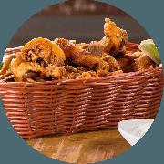 Porções: Frango a Passarinho 1kg - Porção Média (Ingredientes: Frango a Passarinho)