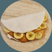 Sobremesas: Mini tapioca de pasta de amendoim e banana - Pasta de Amendoim sem açúcar
