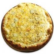 Pizzas Especiais: Cinco Queijos - Pizza Pequena (Ingredientes: Catupiry, Gorgonzola, Molho de Tomate, Mussarela, Orégano, Parmesão, Provolone)