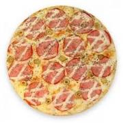 Pizzas Especiais: Lombo com Catupiry - Pizza Pequena (Ingredientes: Catupiry, Lombo, Molho de Tomate, Mussarela, Orégano)