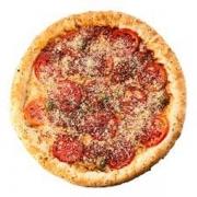 Pizzas Tradicionais: Napolitana - Pizza Pequena (Ingredientes: Molho de Tomate, Mussarela, Orégano, Parmesão, Tomate)