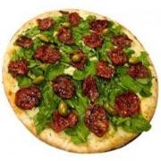 Pizzas Especiais: Tomate Seco com Rúcula - Pizza Pequena (Ingredientes: Molho de Tomate, Mussarela, Orégano, Rúcula, Tomate Seco)