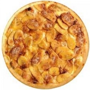 Pizzas Doces: Banana com Canela - Pizza Pequena (Ingredientes: Banana, Canela, Mussarela)