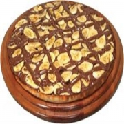 Pizzas Doces: Banana com Chocolate - Pizza Pequena (Ingredientes: Banana, Chocolate, Mussarela)