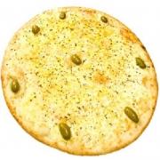 Pizzas Tradicionais: Mussarela - Pizza Pequena (Ingredientes: Azeitona, Molho de Tomate, Mussarela, Orégano)