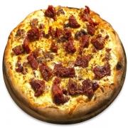 Pizzas Tradicionais: Tomate Seco - Pizza Pequena (Ingredientes: Molho de Tomate, Mussarela, Orégano, Tomate Seco)
