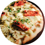 Novidade: Florença - Pizza Média (Ingredientes: Cebola, Champignon, Molho de Tomate Cuko
