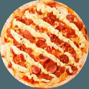 Pizzas Tradicionais: Barcola - Pizza Gigante (Ingredientes: Catupiry, Molho de Tomate, Mussarela, Orégano, Presunto)