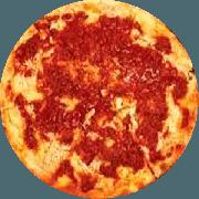 Pizzas Tradicionais: Bolonhesa - Pizza Gigante (Ingredientes: Carne Moída, Molho, Molho de Tomate, Mussarela, Orégano)