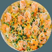 Pizzas Tradicionais: Camarão - Pizza Gigante (Ingredientes: Azeitona, Camarão médio refogado, Cebola, Molho de Tomate, Mussarela, Orégano)