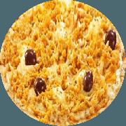 Pizzas Tradicionais: Frango - Pizza Gigante (Ingredientes: Ervilha, Frango Desfiado, Molho de Tomate, Mussarela, Orégano)