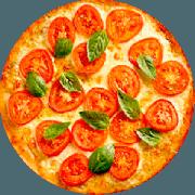 Pizzas Tradicionais: Margherita - Pizza Gigante (Ingredientes: Manjericão, Molho de Tomate, Mussarela, Orégano, Tomate)