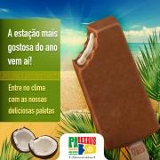 Paletas: Chocolate Belga com Coco - Paleta Mexicana
