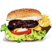 Burgers: Apimentadito - Burger 240g (Ingredientes: Burge de Novilho Angus, Sweet Chilli Caseiro, Alface, Tomate, Rúcula, Muçarela)