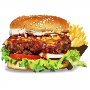 Burgers: Gringo - Burger 240g (Ingredientes: Burger de Novilho Angus á Parmeggiana, Tomate, Alface, Cebola, Molho de Tomate)
