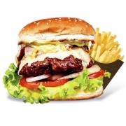 Burgers: Achivitado - Burger 240g (Ingredientes: Burge de Novilho Angus, Maionese, Alface, Tomate, Pimentão Gralhado, Azeitona, Presunto, Mussarela, Ovo)