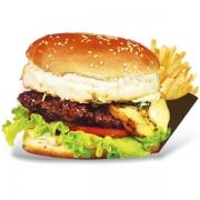 Burgers: Angus Burger - Burger 240g (Ingredientes: Burger de Costela de Gado Angus, Maionese, Alface, Tomate, Cebola, Pimentão Grelhado, Provolone)
