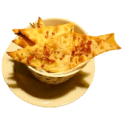 Casquinha: Casquinha de Calabresa - Massa de Pizza Crocante, Calabresa, orégano e azeite