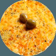 Promoção: Dois Queijos - Pizza Família (Ingredientes: Catupiry, Molho, Mussarela, Orégano)