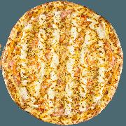 CLÁSSICAS DA CHEF´S: Bauru - Pizza Grande (Ingredientes: Azeite de Oliva, Catupiry, Molho, Muçarela, Orégano, Presunto, Tomate)