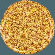 CLÁSSICAS DA CHEF´S: Americana - Pizza Grande (Ingredientes: Bacon, Molho, Muçarela, Orégano, Ovo, Presunto)