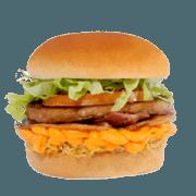 Lanches: Mix Cheddar - Hambúrguer (Ingredientes: Alface, Bacon, Cheddar, Frango Desfiado, Hambúrguer, Tomate)
