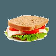 Lanches: Bacana Light - Hambúrguer (Ingredientes: Alface, Duas fatias de peito de peru, Molho, Pão Integral, Queijo Branco, Tomate)