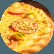 Especiais: Marguerita - Pizza Média (Ingredientes: Borda à Francesa de Requeijão, Gotas de Requeijão, Manjericão Fresco, Molho de Tomate Cuko
