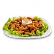 Porções: PORÇÃO Camarão - Pequena (Ingredientes: Camarão empanado)