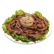 Porções: PORÇÃO Picanha - Pequena (Ingredientes: Picanha em pequenas tiras saborosas)