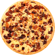 Salgadas: Bacon - Pizza Broto (Ingredientes: Bacon, Mussarela)
