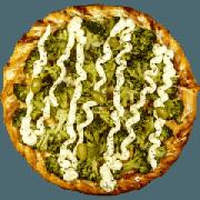 Tradicionais: Brócolis - Pizza Gigante (Ingredientes: Azeitona, Brócolis, Catupiry, Molho de Tomate, Mussarela, Orégano)