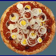 Salgadas: Baiana - Pizza Grande (Ingredientes: Calabresa Moída, Cebola, Ovo, Pimenta)