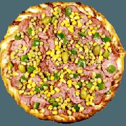 Tradicionais: Pizzaiolo - Pizza Gigante (Ingredientes: Azeitona, Calabresa Fatiada, Ervilha, Molho de Tomate, Mussarela, Orégano, Pimentão)