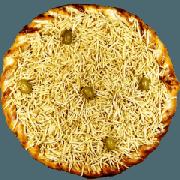 Tradicionais: Strogonoff de Frango - Pizza Gigante (Ingredientes: Azeitona, Batata Palha, Molho de Tomate, Mussarela, Orégano)
