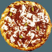 Tradicionais: Madre - Pizza Gigante (Ingredientes: Azeitona, Bacon, Molho de Tomate, Mussarela, Orégano, Palmito, Parmesão)