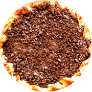 Doces: Chocolate - Pizza Gigante (Ingredientes: Chocolate ao Leite, Creme de Leite, Mussarela)